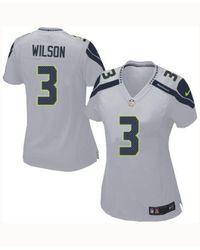 Nike Gray Women's Russell Wilson Seattle Seahawks Game Jersey