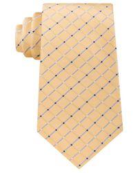 Michael Kors | Yellow Men's Metropolis Grid Tie for Men | Lyst