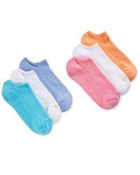 Hue | Multicolor Massaging Liner 6 Pack Socks | Lyst