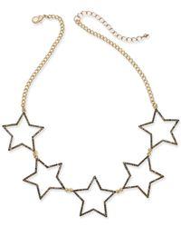 INC International Concepts - Metallic Five-star Statement Necklace - Lyst