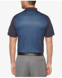 PGA TOUR Blue Striped Polo for men