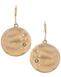 Kenneth Cole | Multicolor Earrings, Gold-tone Crystal Circle Drop | Lyst