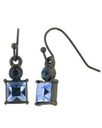 2028 - Blue Earrings, Montana Crystal Square Earrings - Lyst