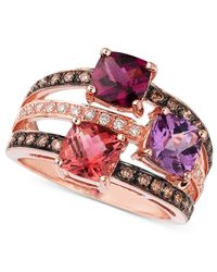 Le Vian | Pink Multistone And Diamond Ring In 14k Rose Gold (3/8 Ct. T.w.) | Lyst