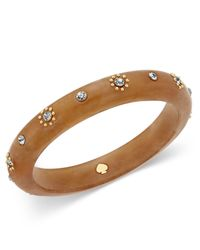 Kate Spade - Multicolor Out Of Her Shell Gold-tone Tortoiseshell-look Bangle Bracelet - Lyst