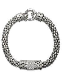Macy's | Multicolor Diamond Barrel Bracelet In Sterling Silver (1/4 Ct. T.w.) | Lyst