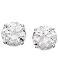 Arabella | Metallic Swarovski Zirconia Round Stud Earrings (6-5/8 Ct. T.w.) | Lyst