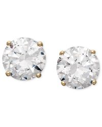 Arabella | Metallic Swarovski Zirconia Round Stud Earrings (6-5/8 Ct. T.w.) | Lyst
