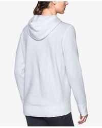 Under Armour - White Favorite Fleece Hoodie - Lyst