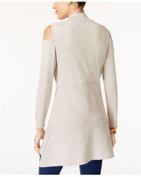 Style & Co. - Black Cold-shoulder Mock-neck Tunic - Lyst