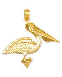 Macy's - Metallic 14k Gold Charm, Pelican Charm - Lyst