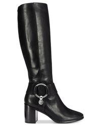 Frye - Black Women's Julia Harness Tall Boots - Lyst