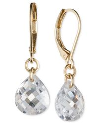 Lonna & Lilly - Metallic Gold-tone Crystal Drop Earrings - Lyst