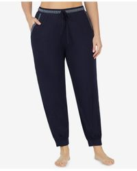 DKNY - Blue Plus Size Striped Cropped Pajama Pants - Lyst
