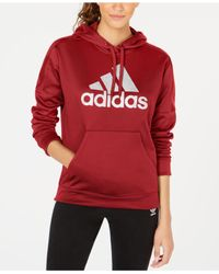 Adidas - Red Shine Logo Hoodie, Created For Macy's - Lyst