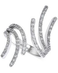 Effy Collection - Diamond Bypass Ring (7/8 Ct. T.w.) In 14k White Gold - Lyst