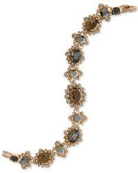 Marchesa - Gold-tone Pavé & Colored Stone Link Bracelet - Lyst
