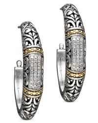 Effy Collection | Multicolor Balissima By Effy Diamond Hoop Earrings (1/4 Ct. T.w.) In 18k Gold And Sterling Silver | Lyst