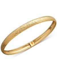 Macy's - Metallic Textured Bangle Bracelet In 14k Gold - Lyst
