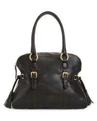 Dooney & Bourke | Black Florentine Domed Buckle Satchel | Lyst