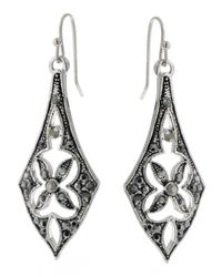 2028 - Metallic Earrings, Silver-tone Linear Drop Earrings - Lyst