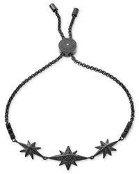 Michael Kors - Black Ion-plated Starburst Pavé Slider Bracelet - Lyst