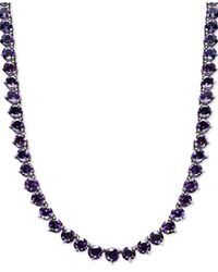 Macy's   Metallic Sterling Silver Necklace, Amethyst Necklace (30 Ct. T.w.)   Lyst
