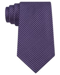 CALVIN KLEIN 205W39NYC - Purple Classic Fit Micro Dot Textured Silk Tie for Men - Lyst