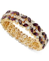 Charter Club | Metallic Clear & Colored Crystal Stretch Bracelet | Lyst
