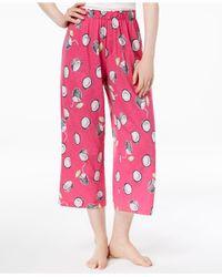 Hue - Pink ® Printed Capri Pajama Pants - Lyst