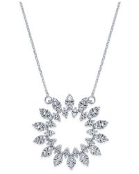 Macy's - Metallic Diamond Sun Pendant Necklace (1-1/2 Ct. T.w.) In 14k White Gold - Lyst