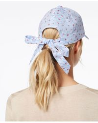 INC International Concepts - Blue I.n.c. Striped Ditsy Floral Baseball Cap, Created For Macy's - Lyst