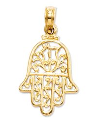 Macy's | Metallic 14k Gold Charm, Hamsa Charm | Lyst