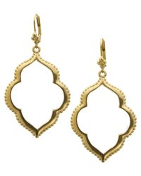 T Tahari | Metallic Earrings, 14k Gold-plated Drop Earrings | Lyst