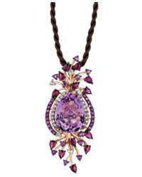 Le Vian   Purple Crazy Collection Multi-stone Cord Pendant Necklace In 14k Strawberry Rose Gold (18 Ct. T.w.)   Lyst