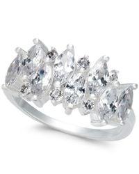Charter Club | Metallic Silver-tone Cubic Zirconia Ring | Lyst
