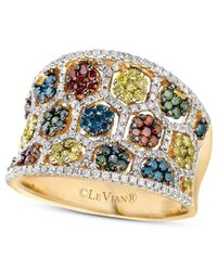 Le Vian | Multicolor Mixberrytm Diamond Concave Ring (1-3/8 Ct. T.w.) In 14k Honey Goldtm | Lyst