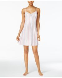 Lucky Brand | White Lace-trimmed Printed Knit Nightgown | Lyst