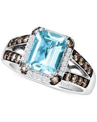 Le Vian | Blue 14 Kt. White Gold Aqua Diamond Ring | Lyst