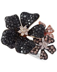 Effy Collection - Multicolor Diamond Flower Ring (2 Ct. T.w.) In 14k Gold - Lyst