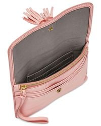 Fossil | Amelia Pink Wristlet Pouch | Lyst