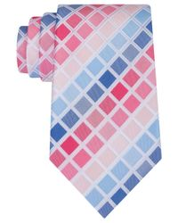 Geoffrey Beene   Pink Men's Tone Geometric Tie for Men   Lyst