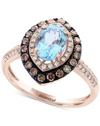 Effy Collection | Metallic Aquamarine (1-1/5 Ct. T.w.) And Diamond (1/2 Ct. T.w.) Ring In 14k Rose Gold | Lyst