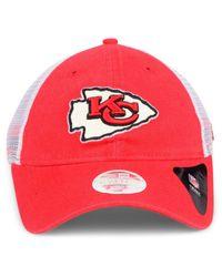 23aa90e1 Lyst - KTZ Kansas City Chiefs Trucker Shine 9twenty Cap in Red