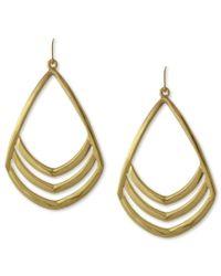 Vince Camuto | Metallic Earrings, Gold-tone Cut Out Drop Earrings | Lyst