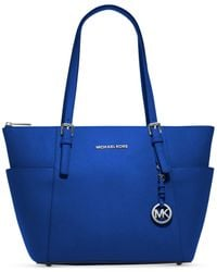 Michael Kors | Blue Michael Jet Set East West Top Zip Large Tote | Lyst
