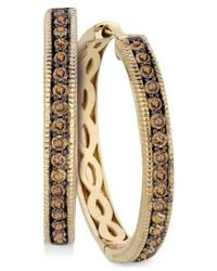 Le Vian | Brown Chocolate Diamond Hoop Earrings In 14k Yellow Gold (5/8 Ct. T.w.) | Lyst