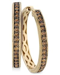 Le Vian | Brown Chocolate Diamond Hoop Earrings In 14k Yellow Gold (5/8 Ct. T.w.) | Lyst