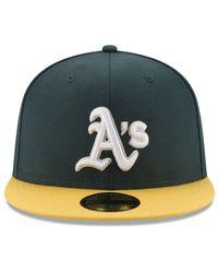 KTZ - Green Oakland Athletics Pintastic 59fifty Cap for Men - Lyst