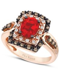 Le Vian - Brown Fire Opal (5/8 Ct.) Chocolate And White Diamond (1/3 Ct. T.w.) Ring In 14k Rose Gold - Lyst